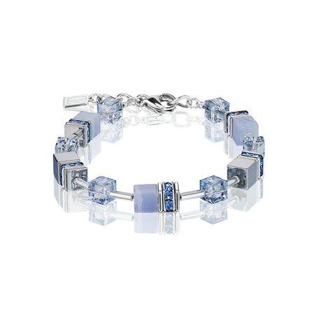 Coeur de Lion Geo Cube armband ligt blauw