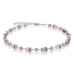 Coeur de Lion Geo Cube collier licht roze
