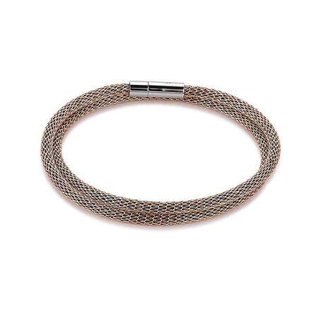 Coeur de Lion mesh armband rosé