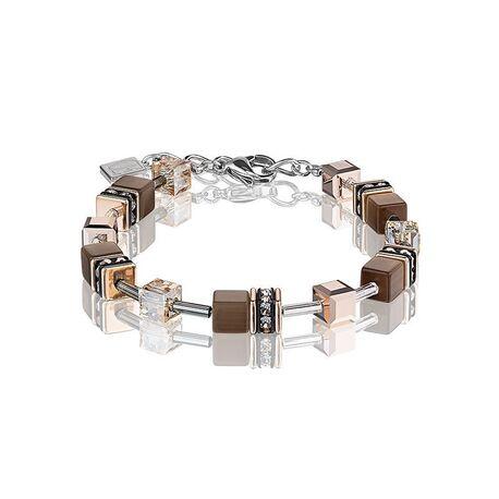 Coeur de Lion Geocube armband licht bruin