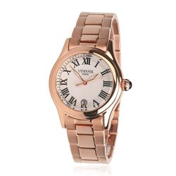 Vendoux stalen horloge The Westminister Rose Gold