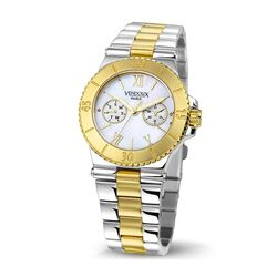 Vendoux stalen horloge bicolor