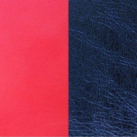 Les Georgettes 14 mm leertje koraal metallic blauw