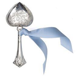 rammelaar gegraveerd hart op staaf zilver