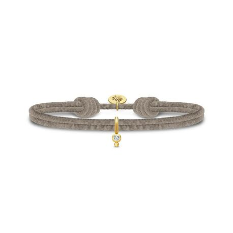 Julie Sandlau Charity armband grijs verguld