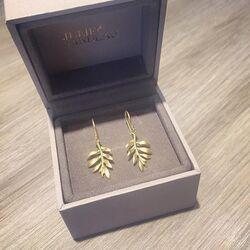 Julie Sandlau verguld zilveren oorhangers leaf