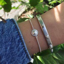 Julie Sandlau zilveren armband Glow