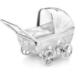 Verzilverde Spaarpot Kinderwagen