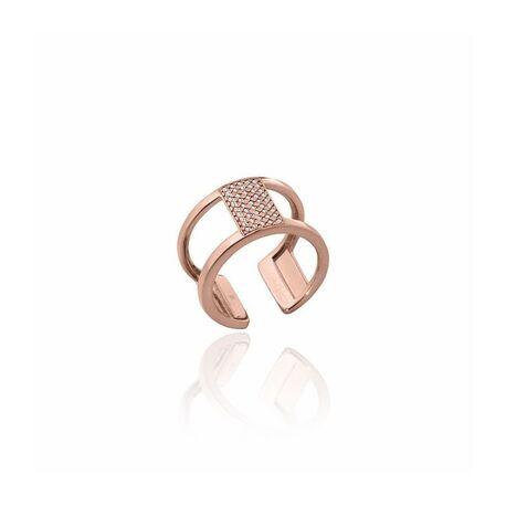Les Georgettes roséverguld stalen ring Barette