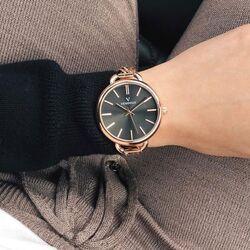 Vendoux roséverguld horloge bruine wijzerplaat