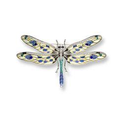 Nicole Barr zilveren broche en hanger libelle