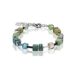 Coeur de Lion armband Geo Cube petrol groen 2838-30-0537