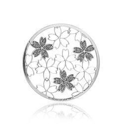 MY iMenso zilveren cover bloemtjes glitter 33 mm