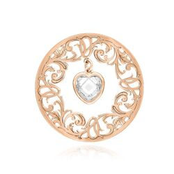 MY iMenso roséverguld zilveren cover bangle heart 33 mm