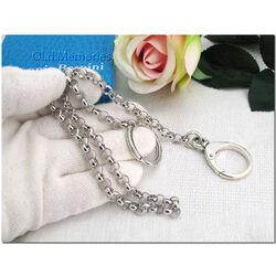 Zilveren Raspini ketting grote ring en Muskaton