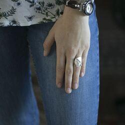 Gematteerd zilveren ring Claudem van Lapponia