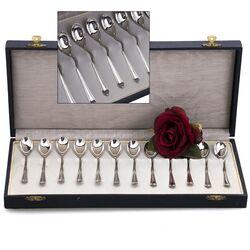 Zilveren art-deco theelepels