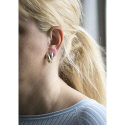 Clips oorbellen goud