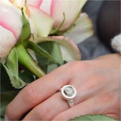 Bastian Inverun zilveren ring groene amethist