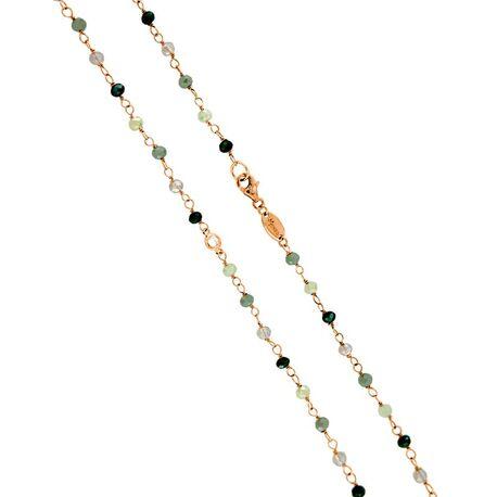 MY iMenso roséverguld zilveren necklace olijf groen