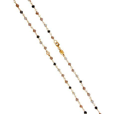 MY iMenso roséverguld zilveren collier opal orange