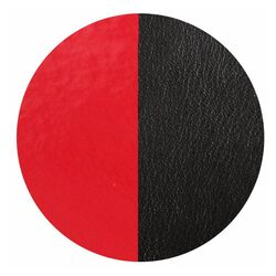 Les Georgettes 25 mm hanger leertje rood zwart