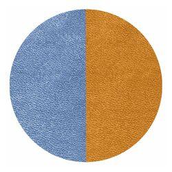 Les Georgettes 25 mm hanger leertje bruin donkerblauw