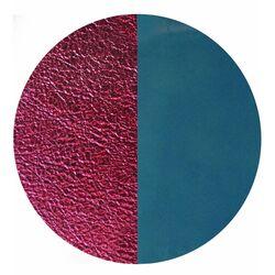 Les Georgettes 25 mm hanger leertje denim blauw metallic rood