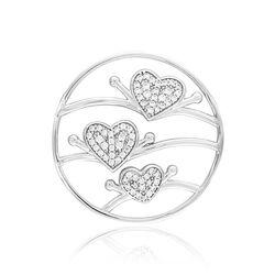 MY iMenso zilveren cover triple hearts zirkonia 33-1417