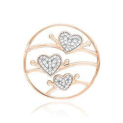 MY iMenso rosé verguld triple hearts 33-1419