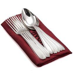 6 grote lepels en vorken zilver puntfilet