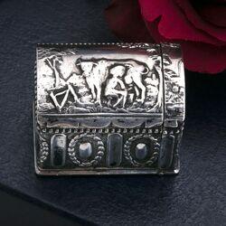koffer doosje antiek zilver geurdoosje