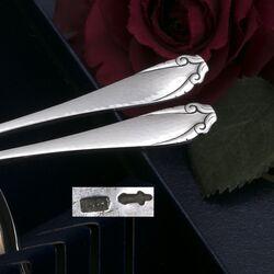 theelepels zilver in model Moustache