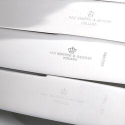 4 tafelmessen zilver heft model 250