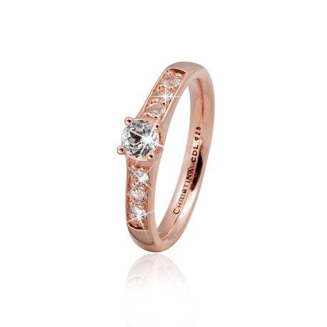 Christina roséverguld zilveren ring topaas