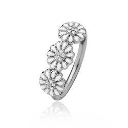 Christina zilveren ring drie margrietjes
