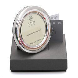 ronde zilveren fotolijst 9 cm Carrs pc3