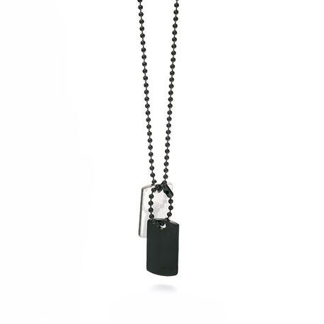 Fred Bennet gezwart stalen dog tags