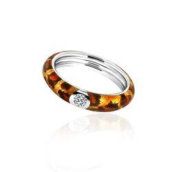 MY iMenso emaille tijgerprint ring 28-092