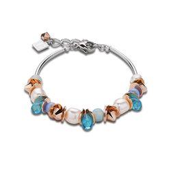Coeur de Lion bicolor armband aqua 4863-30-0600