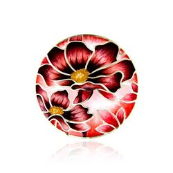 MY iMenso 33 mm insignia rode bloemen