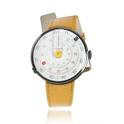 Klokers set gele watch-head met gele band