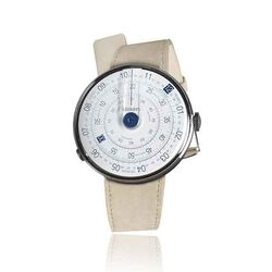 Klokers set donkerblauwe watch-head beige band
