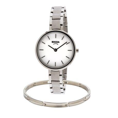 Moederdag aanbieding Boccia horloge met gratis armband 3286-01