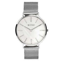 Zinzi Retro horloge parelmoer stalen band
