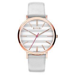 Zinzi Retro horloge grijs-wit gestreept grijze band