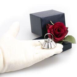 Zilveren miniatuur waterketel