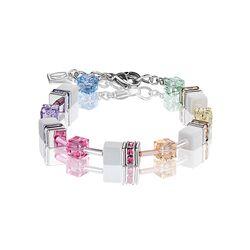 Geo Cube armband pastel wit Coeur de Lion 2838-30-1552