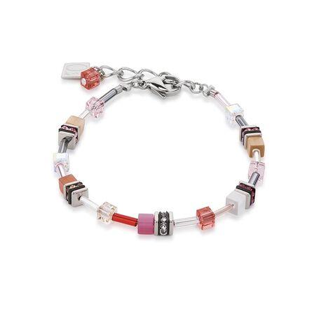Coeur de Lion 4910-30-0219 armband geo cubes roze