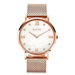 Zinzi Roman horloge parelmoer wijzerplaat rosé ziw522m